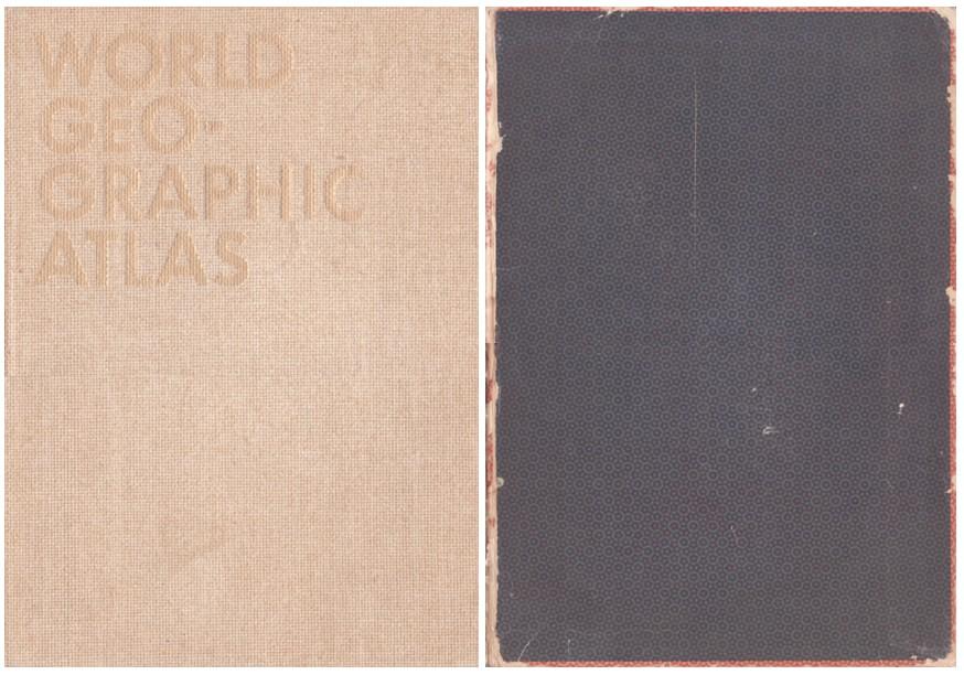 (BAYER, HERBERT). BAYER, HERBERT, EDITOR AND DESIGNER - WORLD GEOGRAPHIC ATLAS: A COMPOSITE OF MAN'S ENVIRONMENT