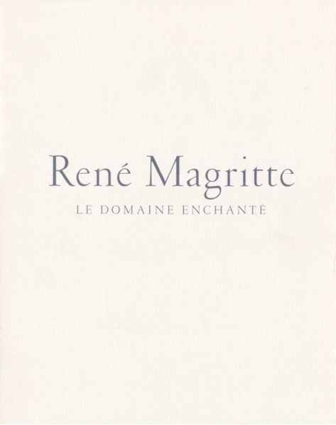 the blank signature. rene magritte the blank