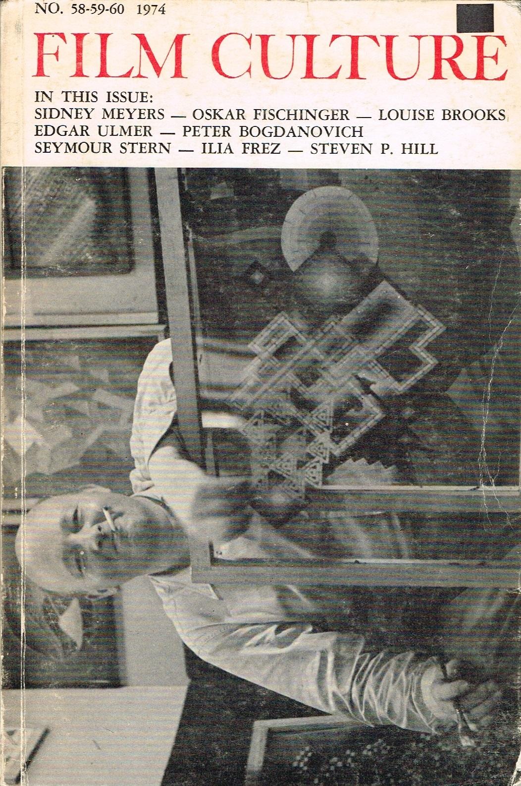 (FILM CULTURE) (FISCHINGER, OSKAR). MEKAS, JONAS, P. ADAMS SITNEY, CAROLINE S. ANGELL & AMY TAUBIN, EDITORS - FILM CULTURE NUMBER 58-59-60 - 1974