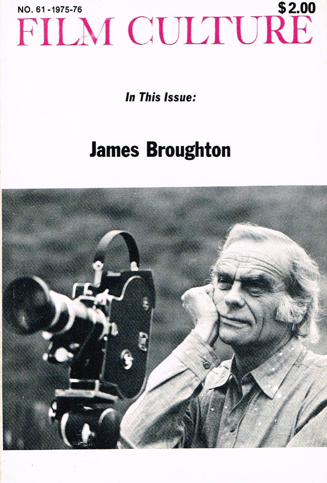 (FILM CULTURE) (BROUGHTON, JAMES). MEKAS, JONAS & P. ADAMS SITNEY, EDITORS - FILM CULTURE NUMBER 61 - 1975-1976