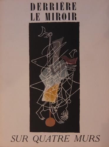 (BRAQUE, GEORGES) (DERRIERE LE MIROIR). BRAQUE, GEORGES & PIERRE REVERDY - DERRIERE LE MIROIR (DLM) NO. 36-37-38 MARS - AVRIL - MAI 1953: SUR QUATRE MURS - WITH LITHOGRAPHS AFTER GEORGES BRAQUE, JEAN BAZAINE, MARC CHAGALL, FERNAND LEGER, HENRI MATISSE & JEAN MIRO