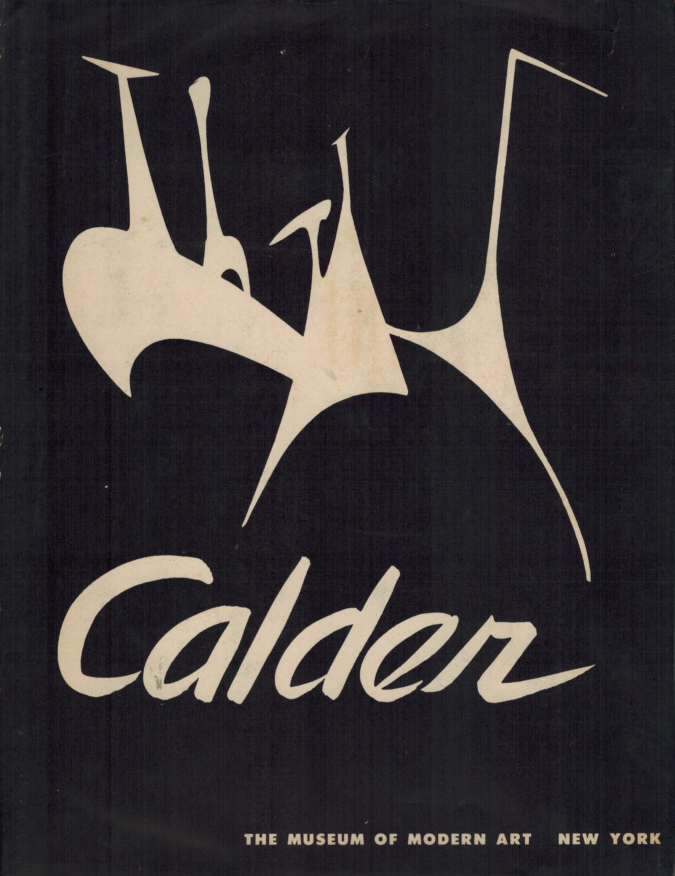 (CALDER, ALEXANDER). SWEENEY, JAMES JOHNSON - ALEXANDER CALDER - A BOLDLY SIGNED ASSOCIATION COPY