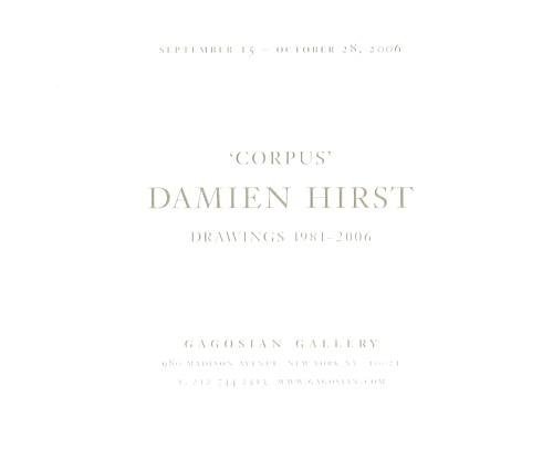 (HIRST, DAMIEN). GAGOSIAN GALLERY - DAMIEN HIRST: ANNOUNCEMENT FOR