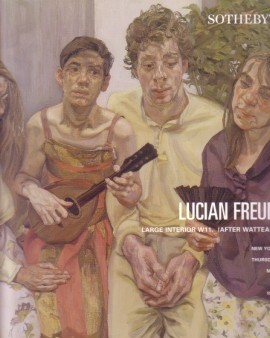 (FREUD, LUCIAN). BERNARD, BRUCE & SOTHEBY'S - LUCIAN FREUD: LARGE INTERIOR, W11, (AFTER WATTEAU) - NEW YORK, THURSDAY MAY 14, 1998
