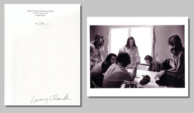 (CLARK, LARRY). CLARK LARRY - TULSA - DELUXE SIGNED SLIPCASED EDITION WITH A SIGNED PHOTOGRAPHIC PRINT