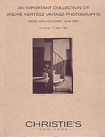 (KERTESZ, ANDRE). CHRISTIE'S STAFF - AN IMPORTANT COLLECTION OF ANDRE KERTESZ VINTAGE PHOTOGRAPHS: PARIS AND HUNGARY, 1919-1927