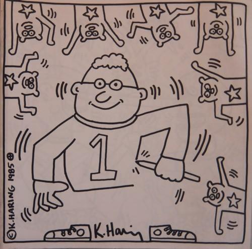 (HARING, KEITH). HARING, KEITH - © KEITH HARING 1985 (COLORING BOOK)