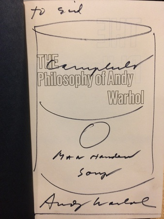THE PHILOSOPHY OF ANDY WARHOL (FROM A-B & BACK AGAIN) - SIGNED