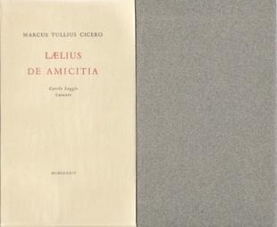 laelius de amicitia cicero marcus tullius cicero