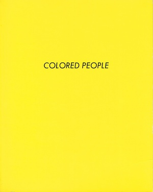 colored people ruscha edward ruscha edward hollywood ca self published 1972 first edition 14065 12mo printed wrappers artists book - Colored People Book